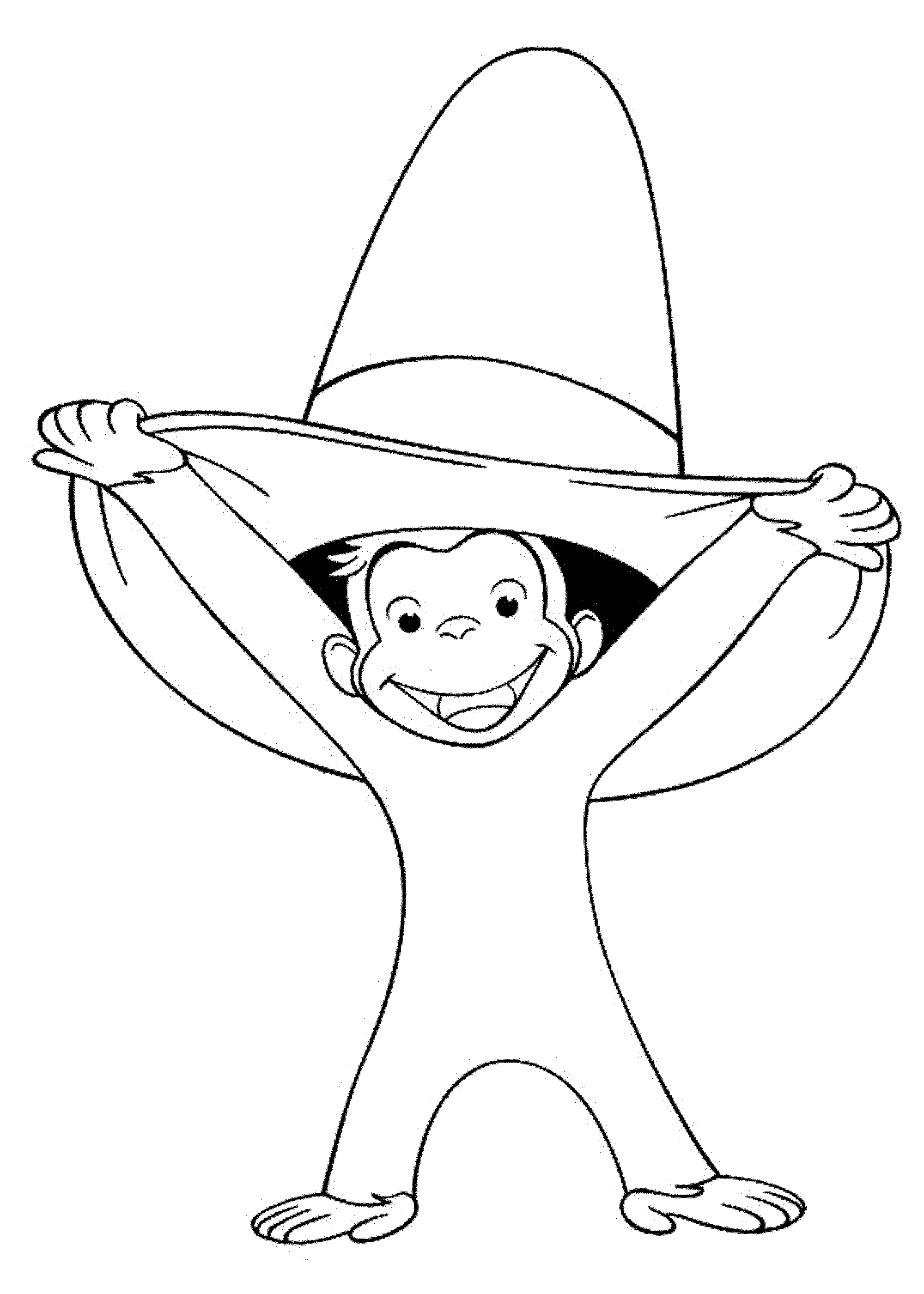 coloring pages of curious george - photo#33