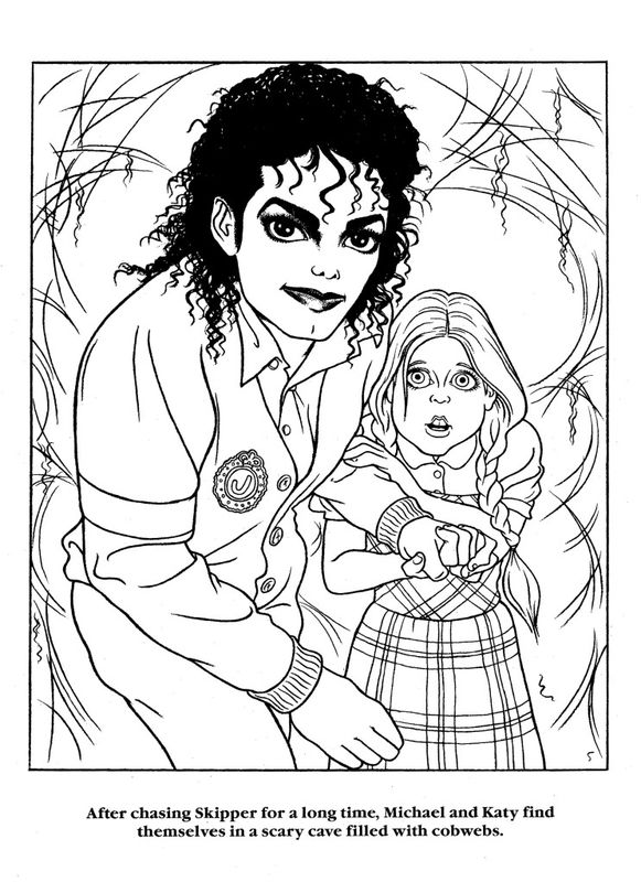 Michael Jackson Coloring Book Home