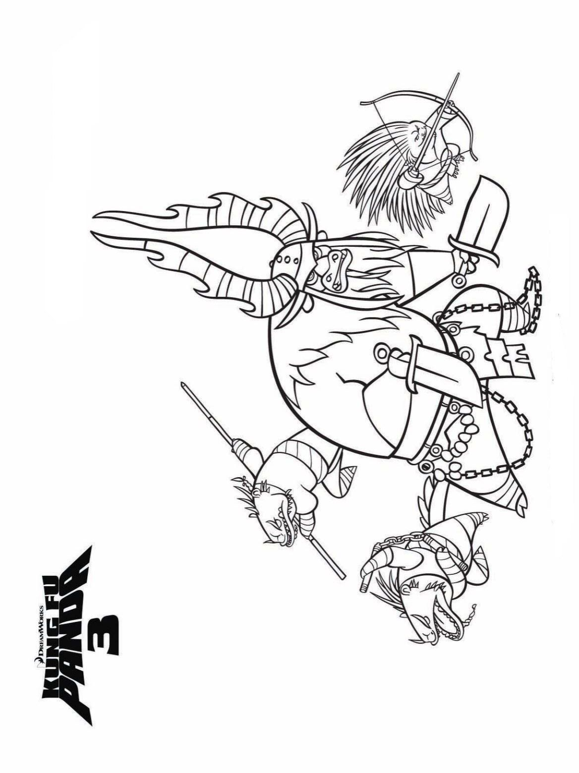Kung Fu Panda 3 Coloring Pages Coloring Home