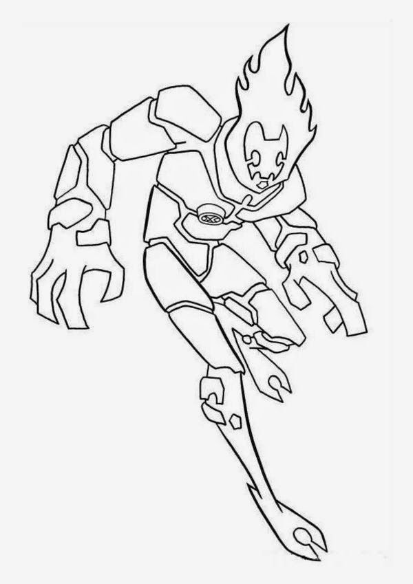 Ben 10 Alien Force Coloring Pages Free - Coloring - Coloring Home