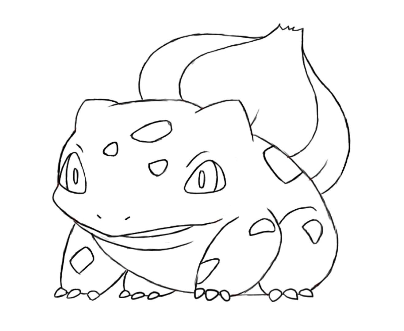 Bulbasaur Coloring Page Coloring Home Bulbasaur Coloring Pages