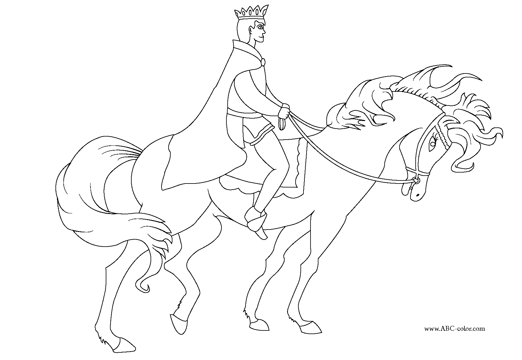It is a picture of Enterprising Prince Coloring Page