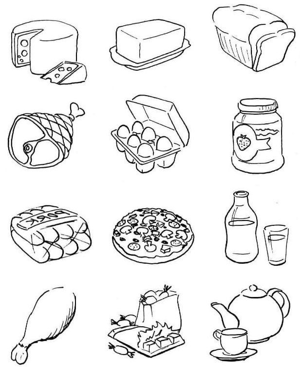 Coloring Page God Gives Us Food - Coloring Home