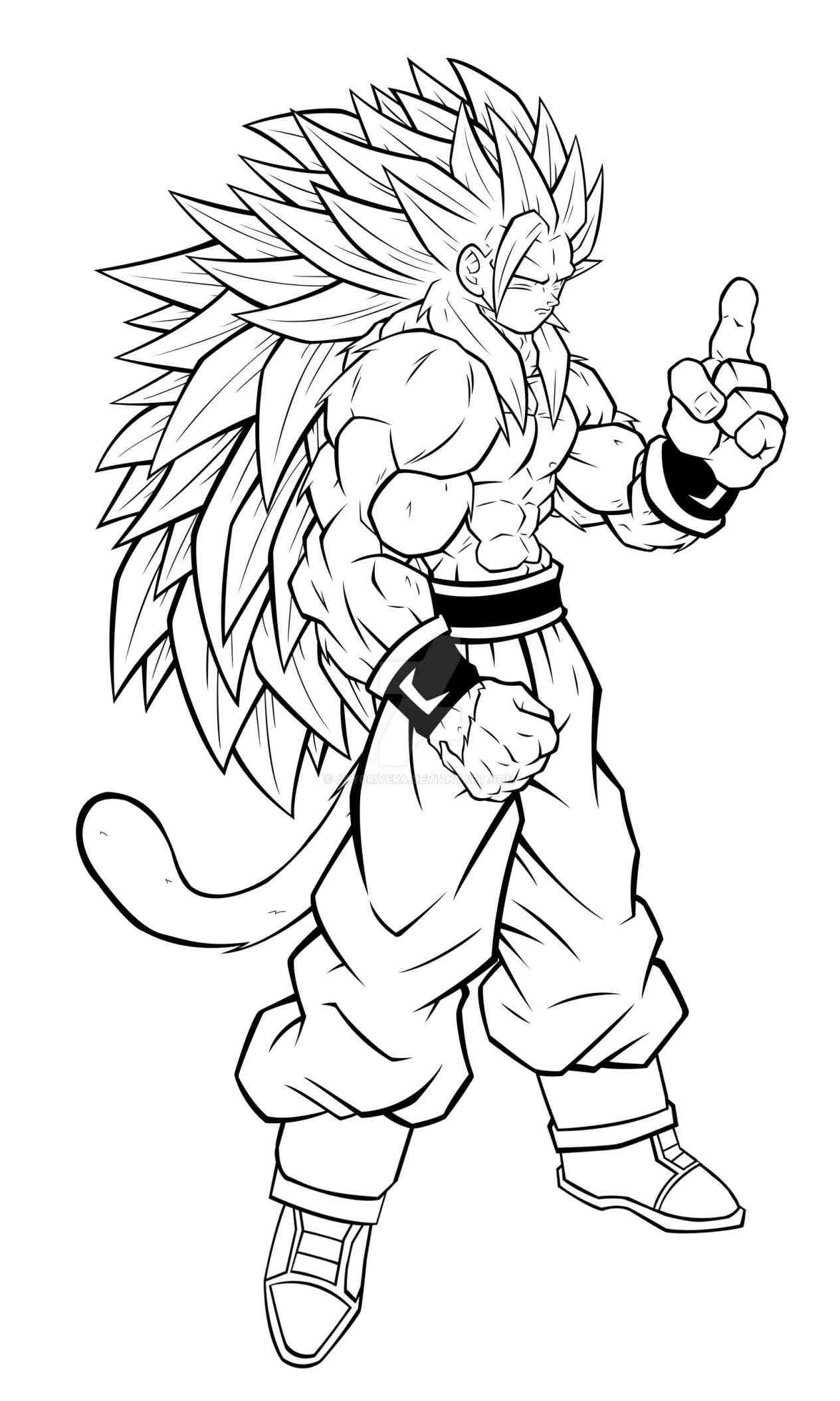 Dragon ball z coloring pages goku super saiyan 5 az for Dbz coloring pages goku