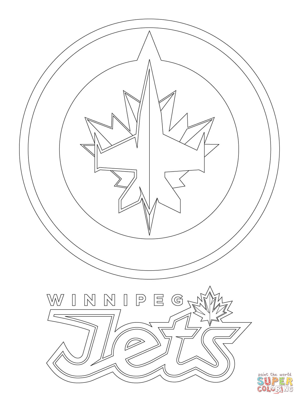 Winnipeg Jets Goalies Coloring