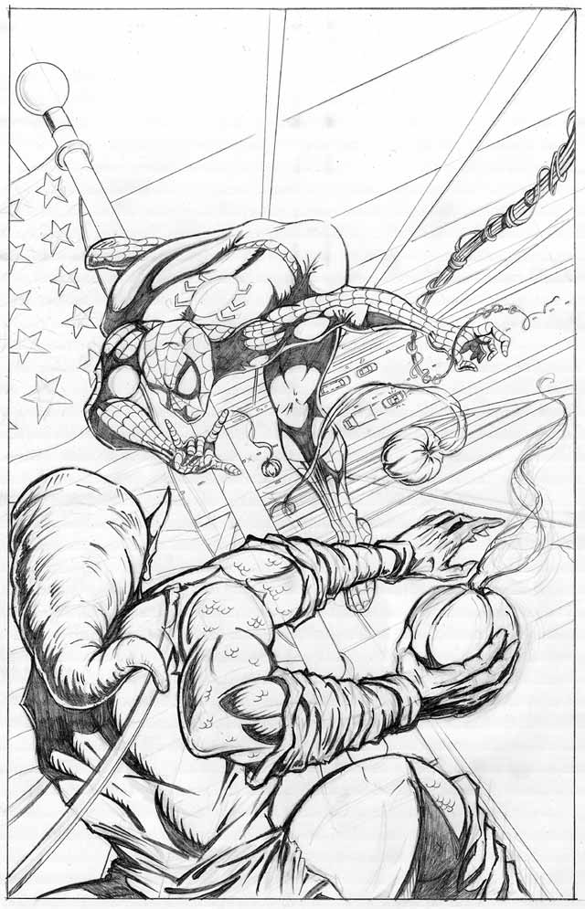 Green Goblin Coloring Pages Free Coloring Home