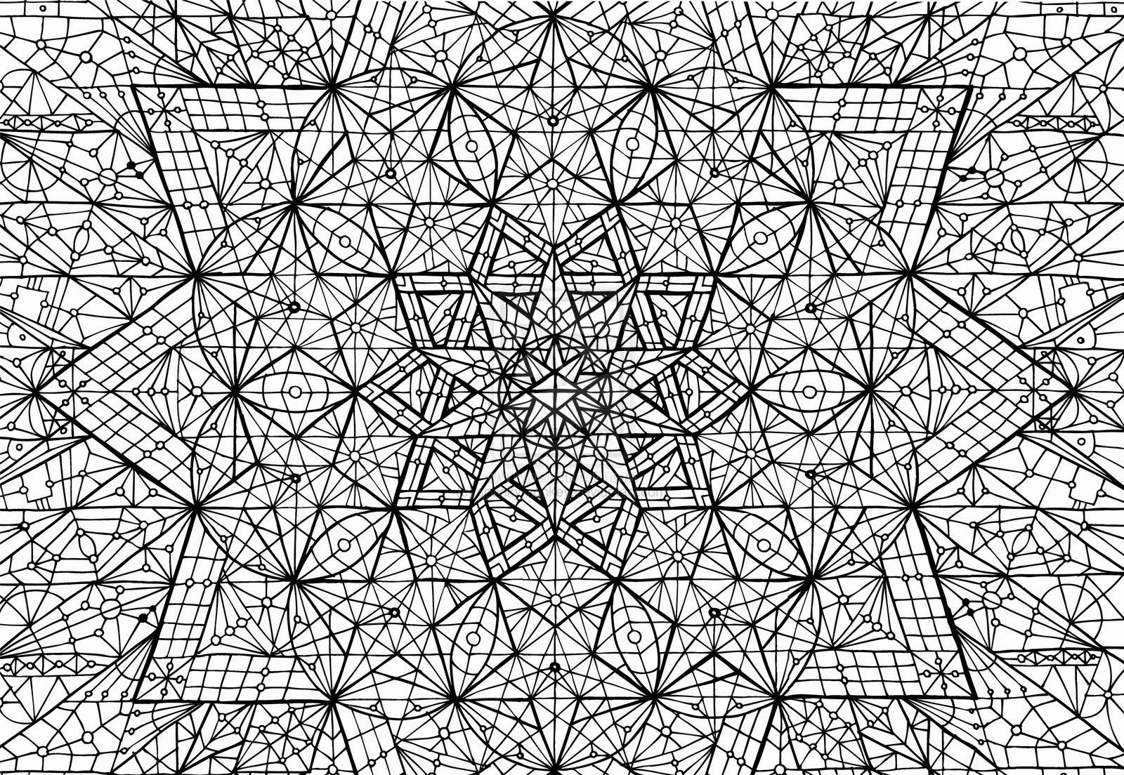 complex geometric coloring pages printable - photo#5
