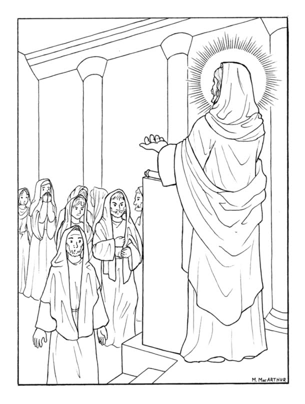 Rosary coloring page for kids coloring home for Joyful mysteries coloring pages