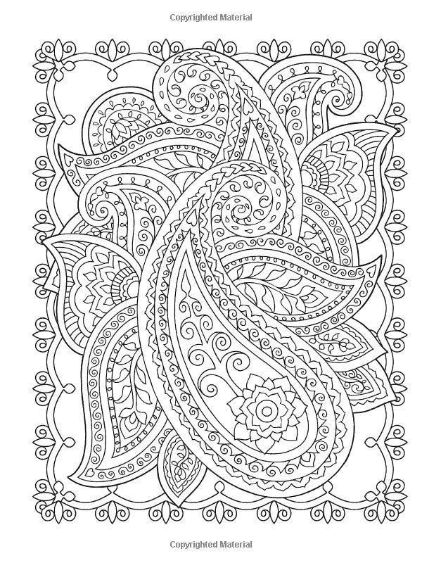 Henna Flower Coloring Pages