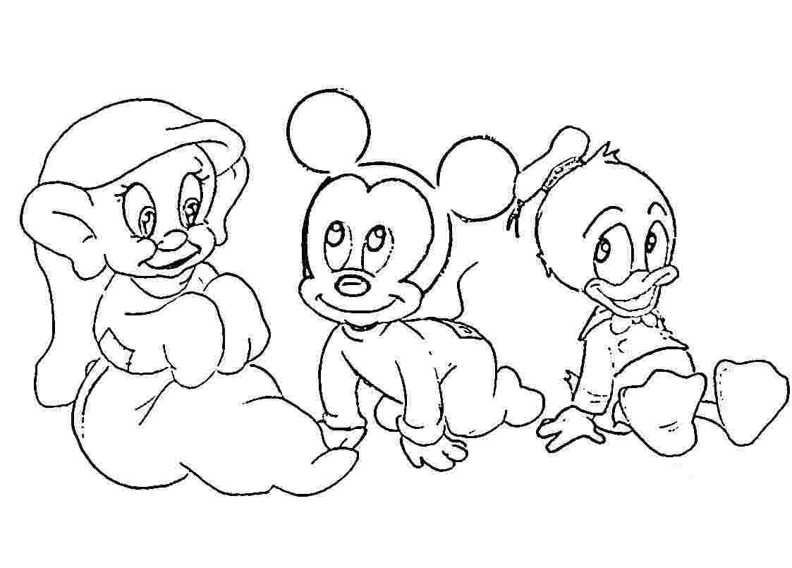 free disney baby character coloring pages coloring home
