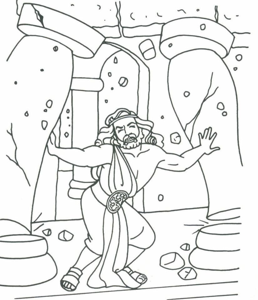 Samson And Delilah Story Coloring Pages - Coloring Home