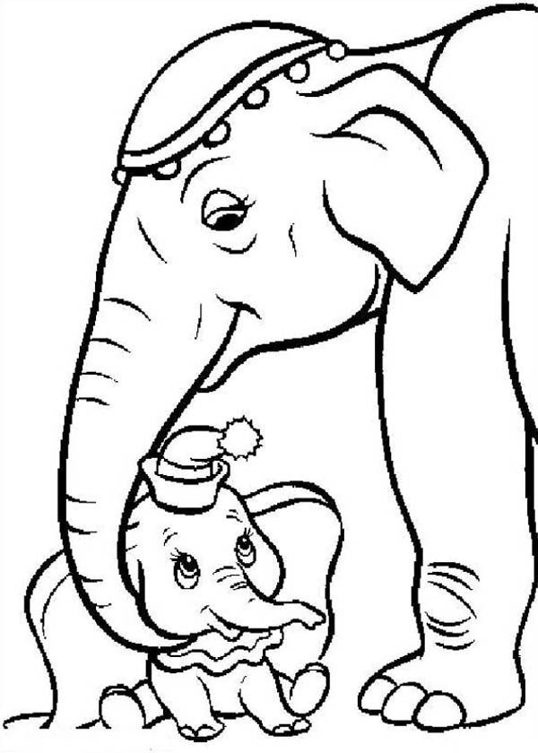 dumbo elephant coloring pages high quality coloring pages - Dumbo Elephant Coloring Pages
