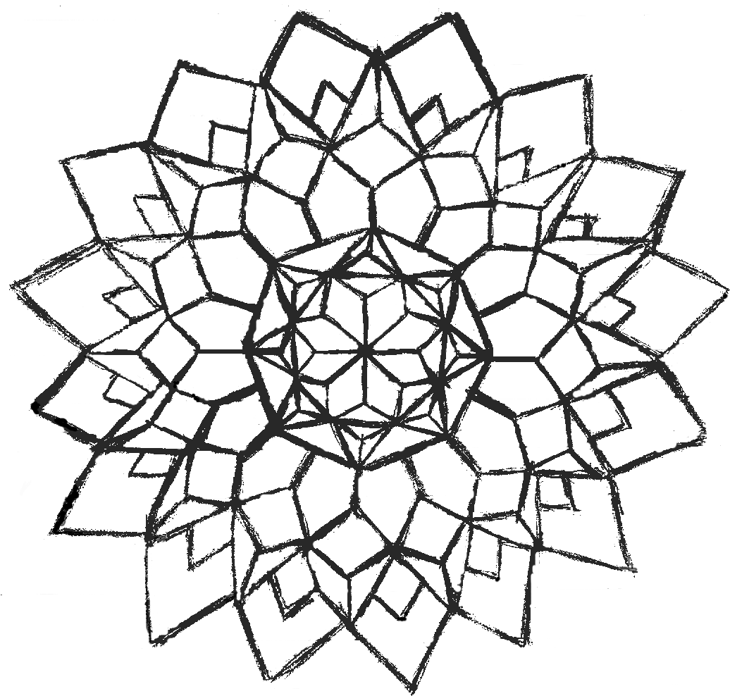 geometric coloring pages advanced nature - photo#18