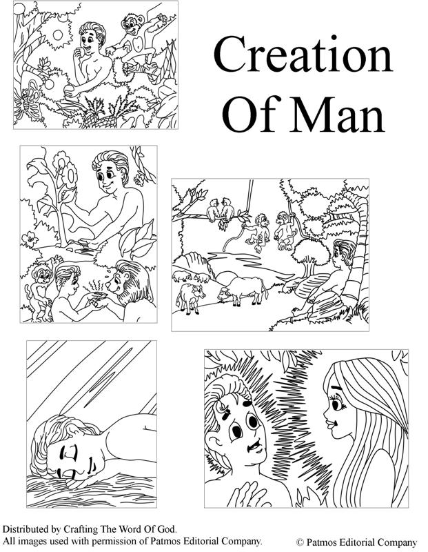 Bible Story Coloring Pages Creation - Coloring Home