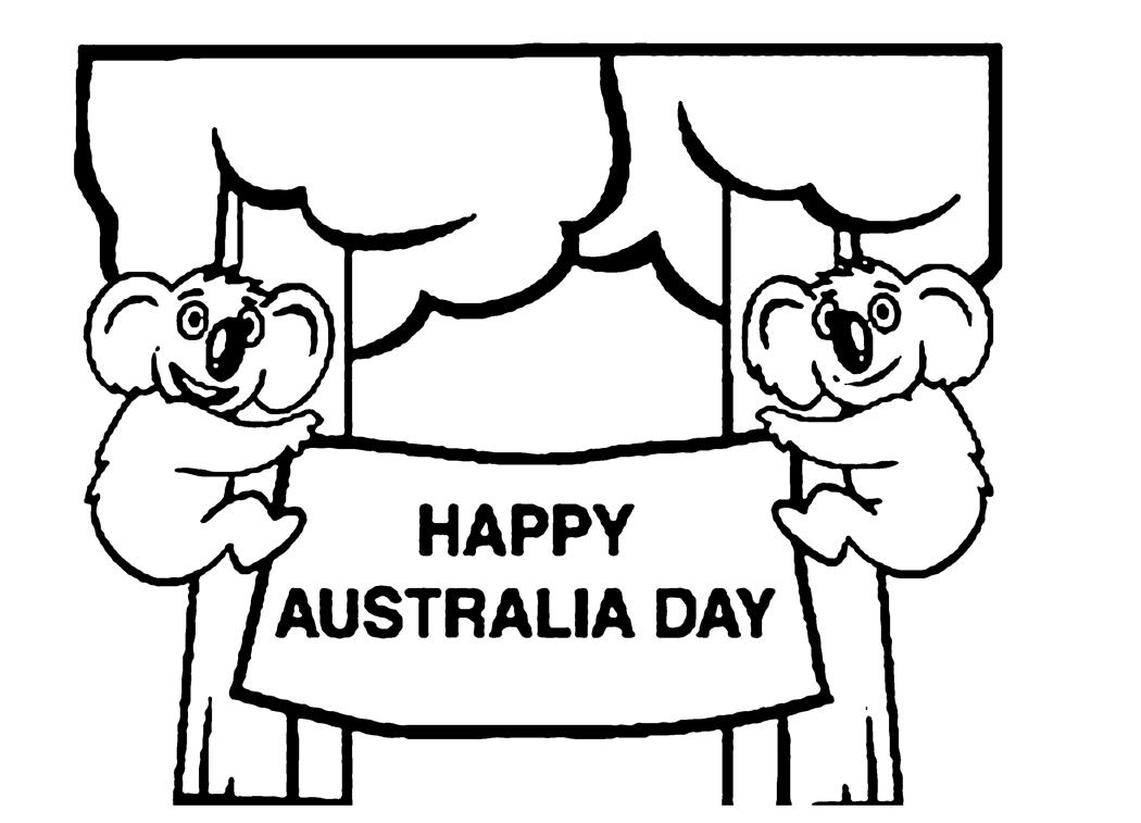 printable happy australia day coloring page coloringpagebookcom