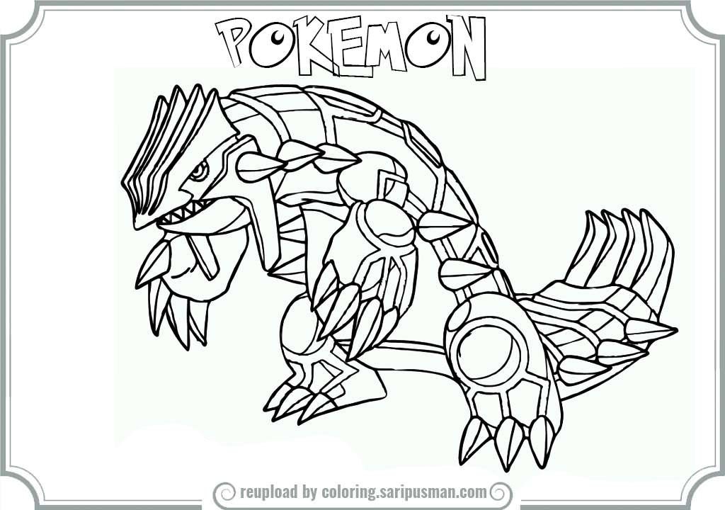 Pokemon Groudon Coloring Pages AZ Coloring Pages