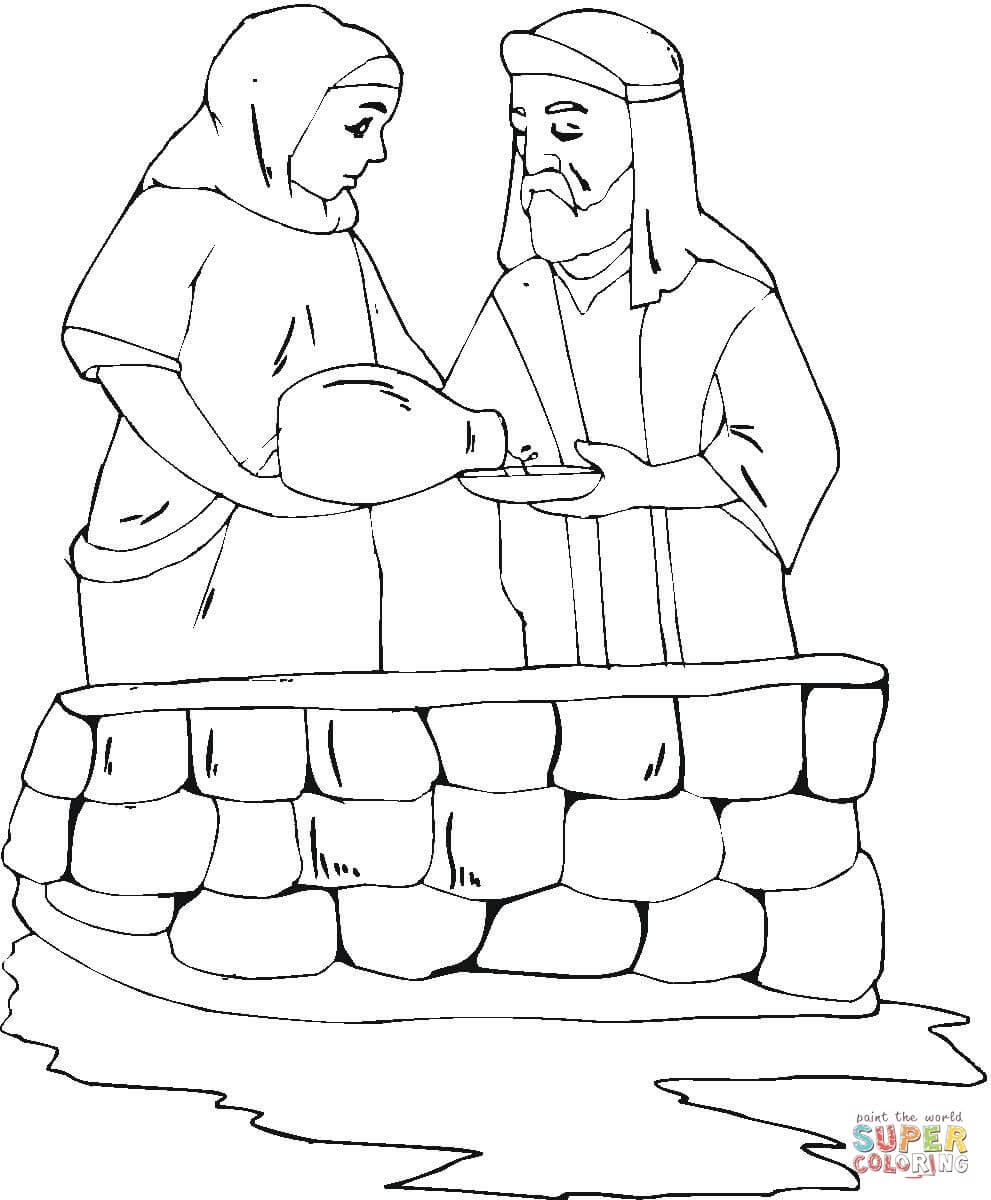 Clip Art Isaac And Rebekah Coloring Pages isaac and rebekah coloring pages eassume com eassume