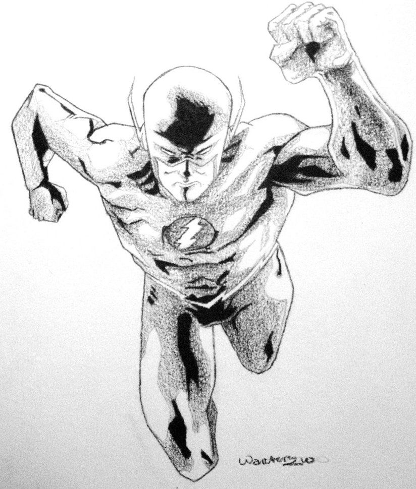 The Flash Coloring - Coloring Pages for Kids and for Adults