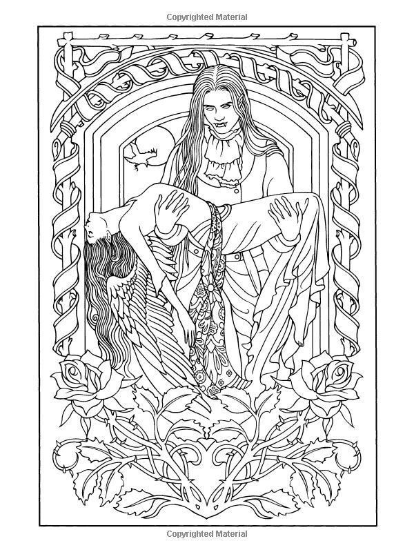 free coloring pages vampires - photo#40