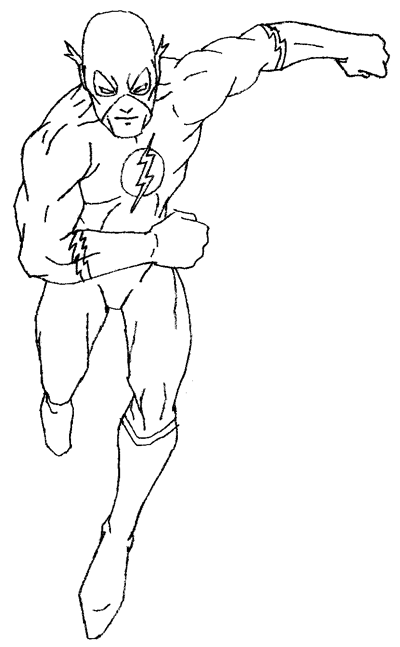 Flash Superhero Coloring Page Coloring Home