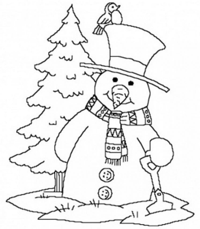 free winter scenes coloring pages - photo#17