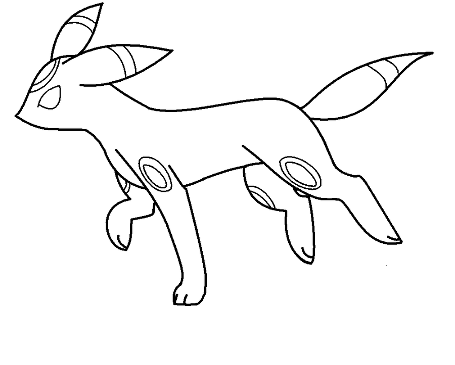 Pokemon Coloring Pages Umbreon - Coloring Home