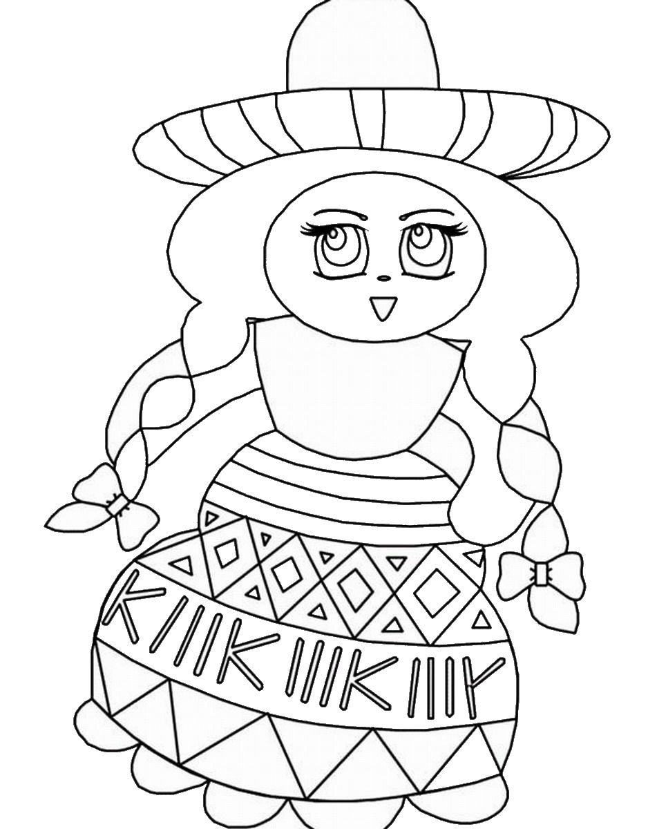 printable mexican food coloring pages - photo#37