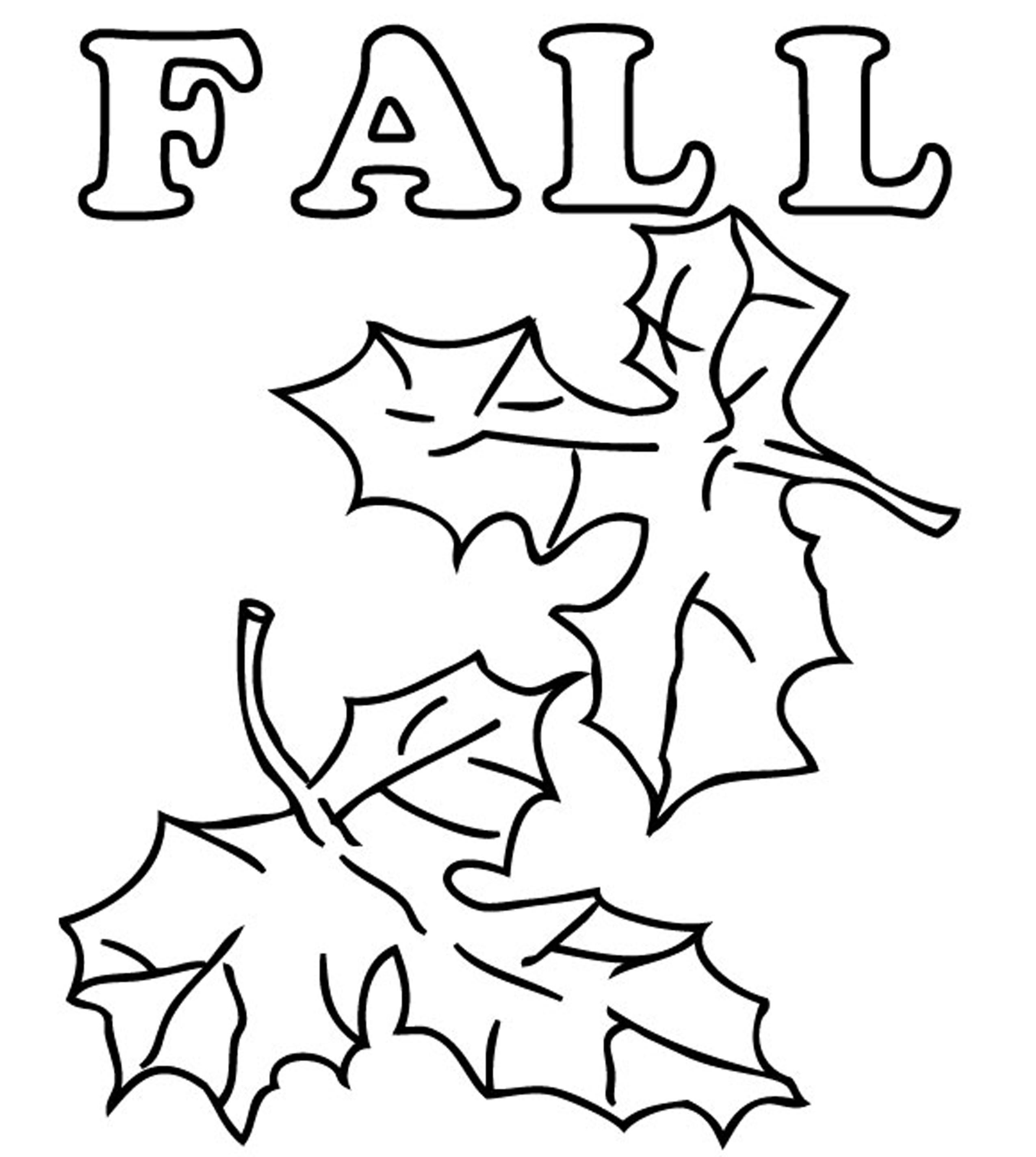 Autumn Leaf Coloring Page - Coloring Home