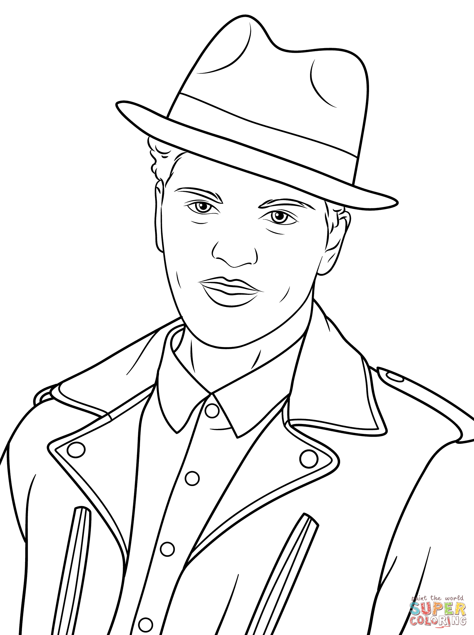 Bruno Mars coloring page | Free Printable Coloring Pages
