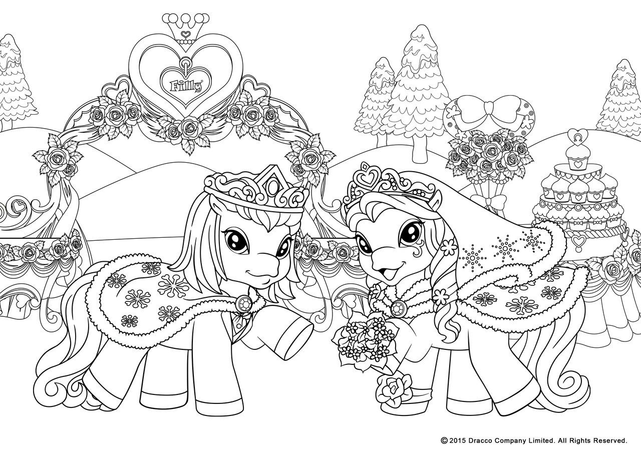 My Filly World Pony Toys Coloring Pages Winterwedd By Myfilly On