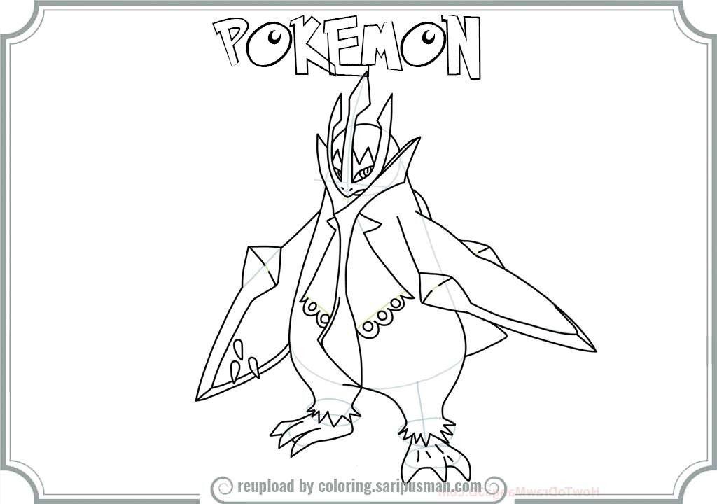 pokemon empoleon coloring pages - photo#12