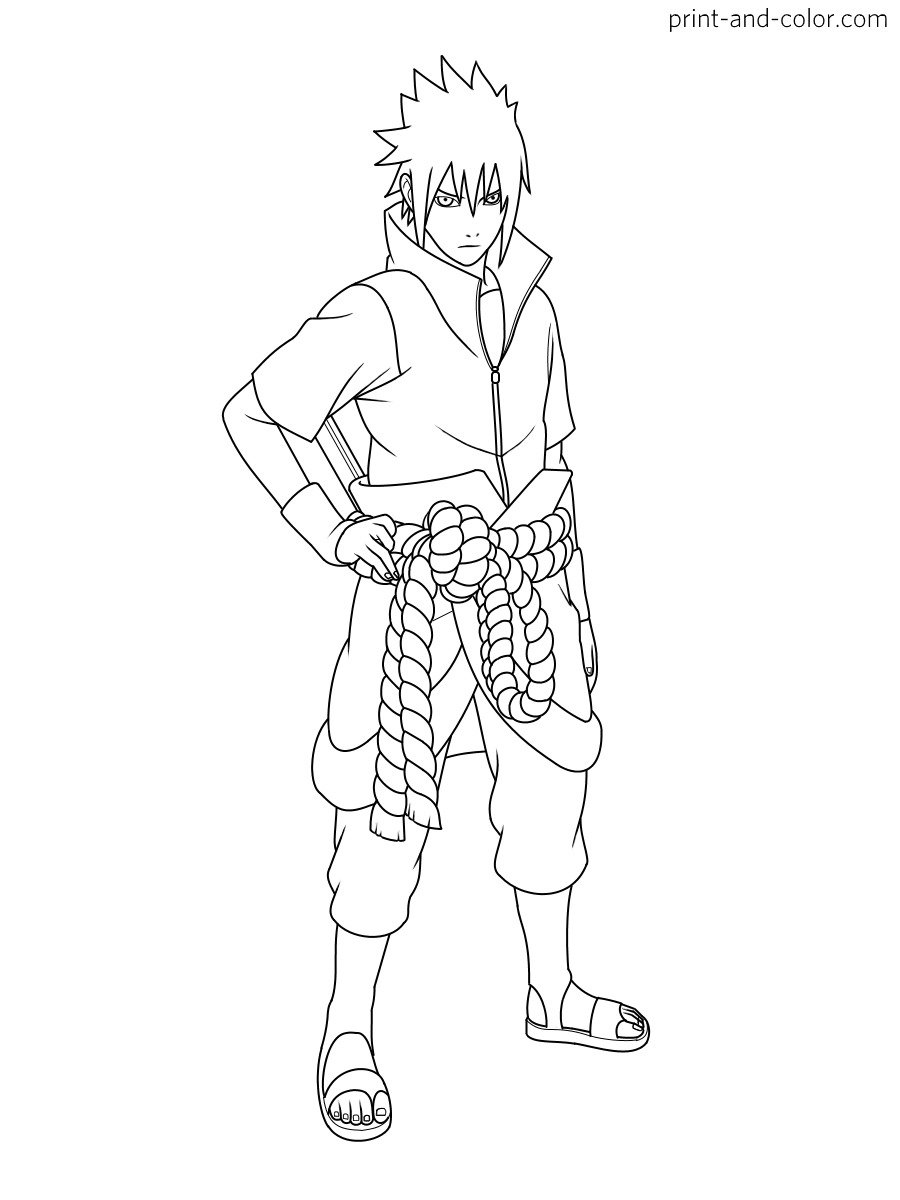 Anime Coloring Pages Kakashi - Coloring and Drawing