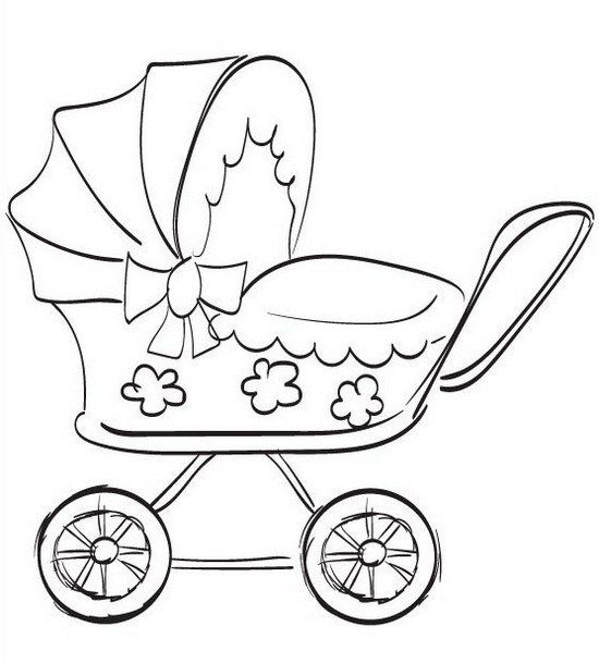 Stroller Coloring Pages Coloring Home