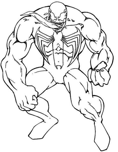 Coloring Page Venom Coloring Home