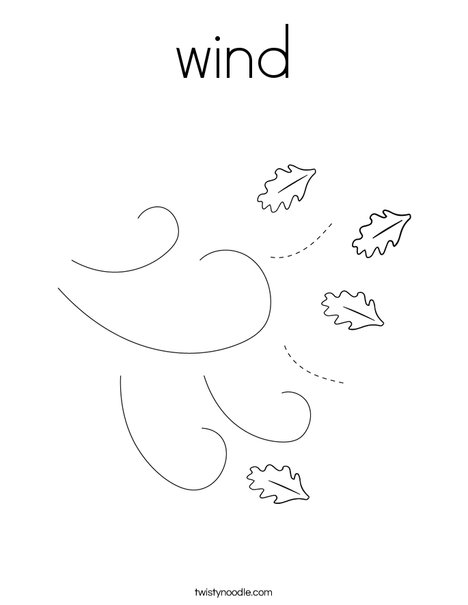 wind Coloring Page - Twisty Noodle
