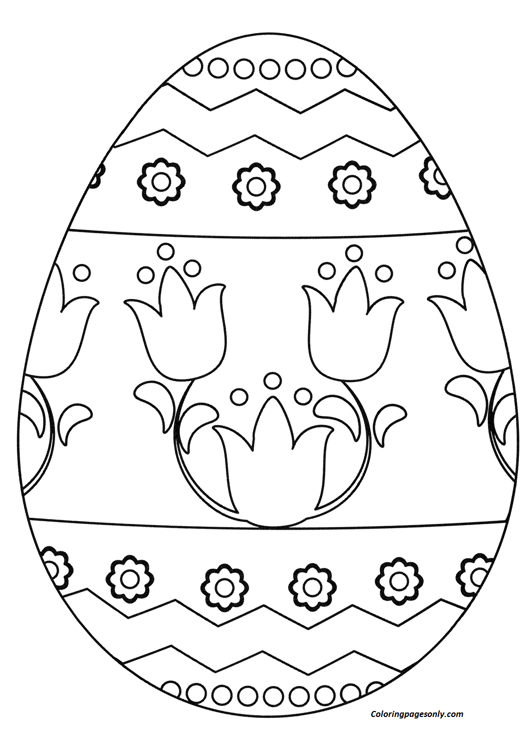 Easter Egg Coloring Page Coloring Page   Free Coloring Pages ...
