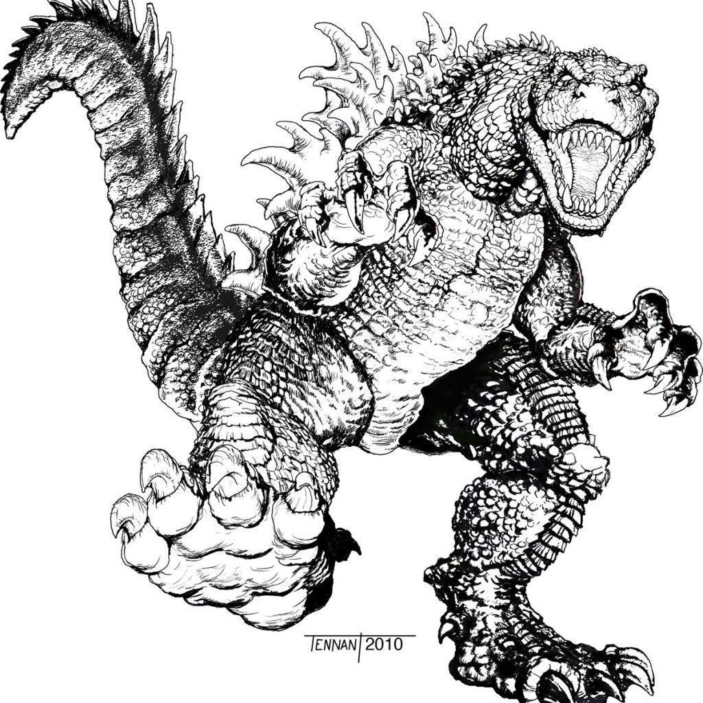 Godzilla Coloring Page 2014 - Coloring Home