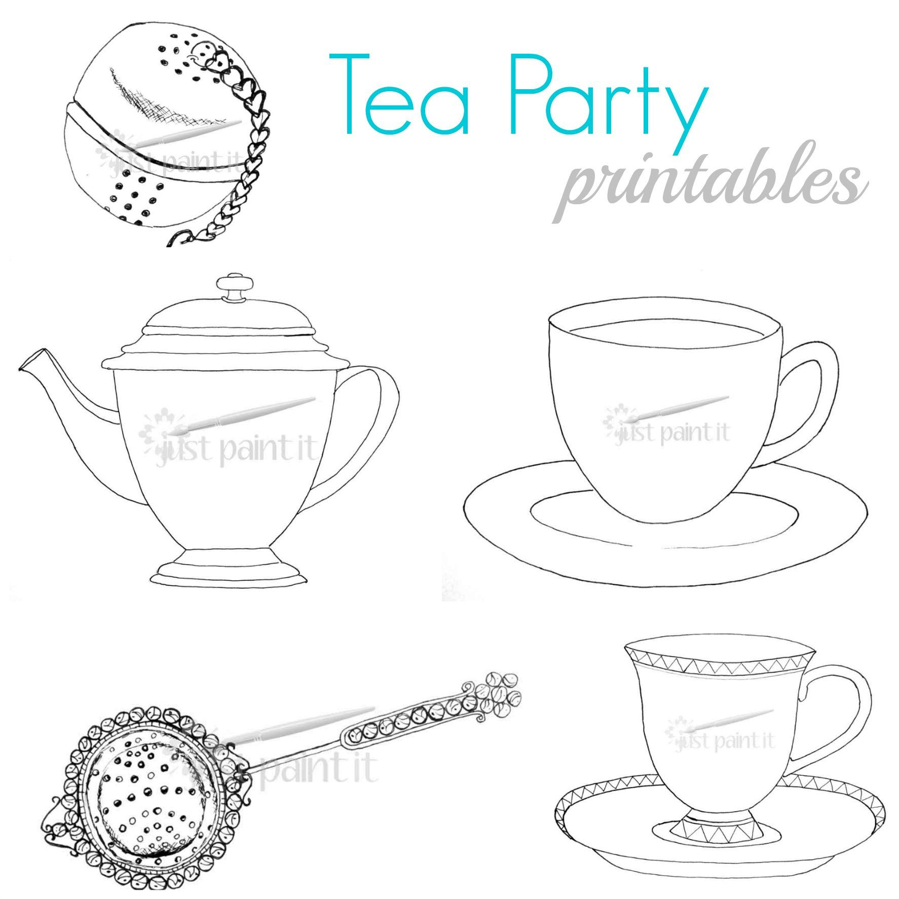 tea coloring pages - photo#32