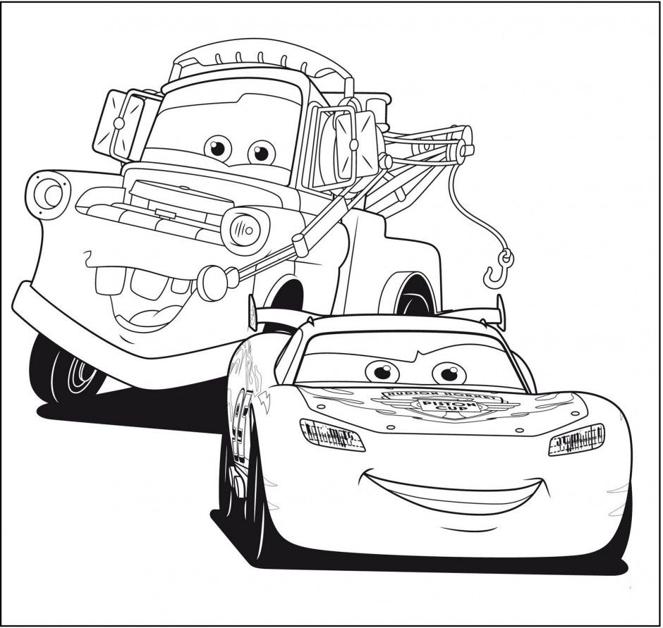 Lightning Mcqueen Coloring Page - Coloring Pages for Kids and for ...