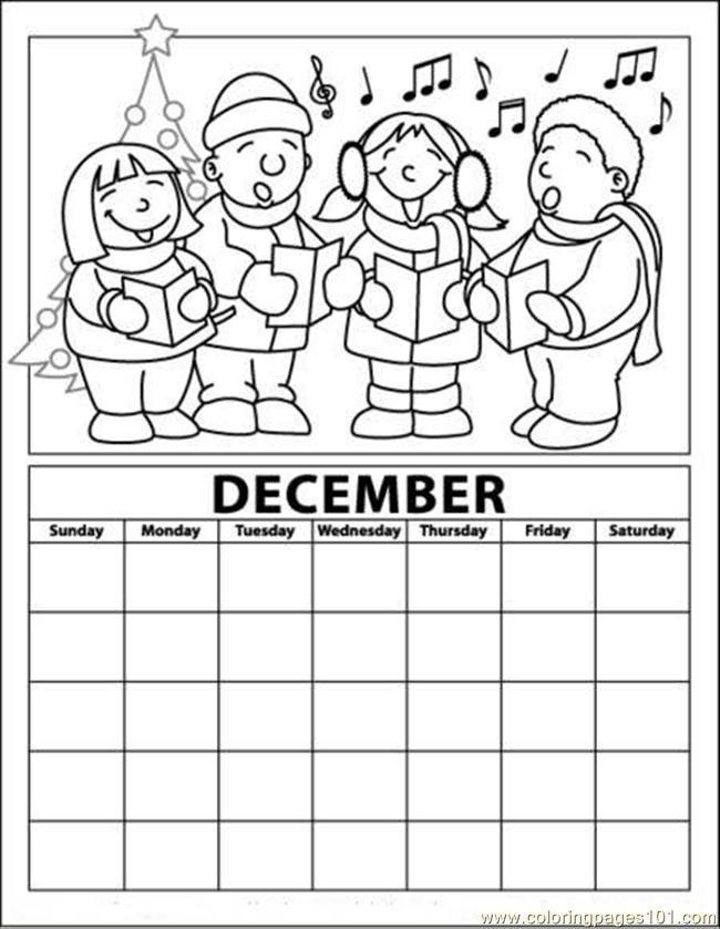Advent Calendar Color Printable 2016CalendarPrintable Coloring