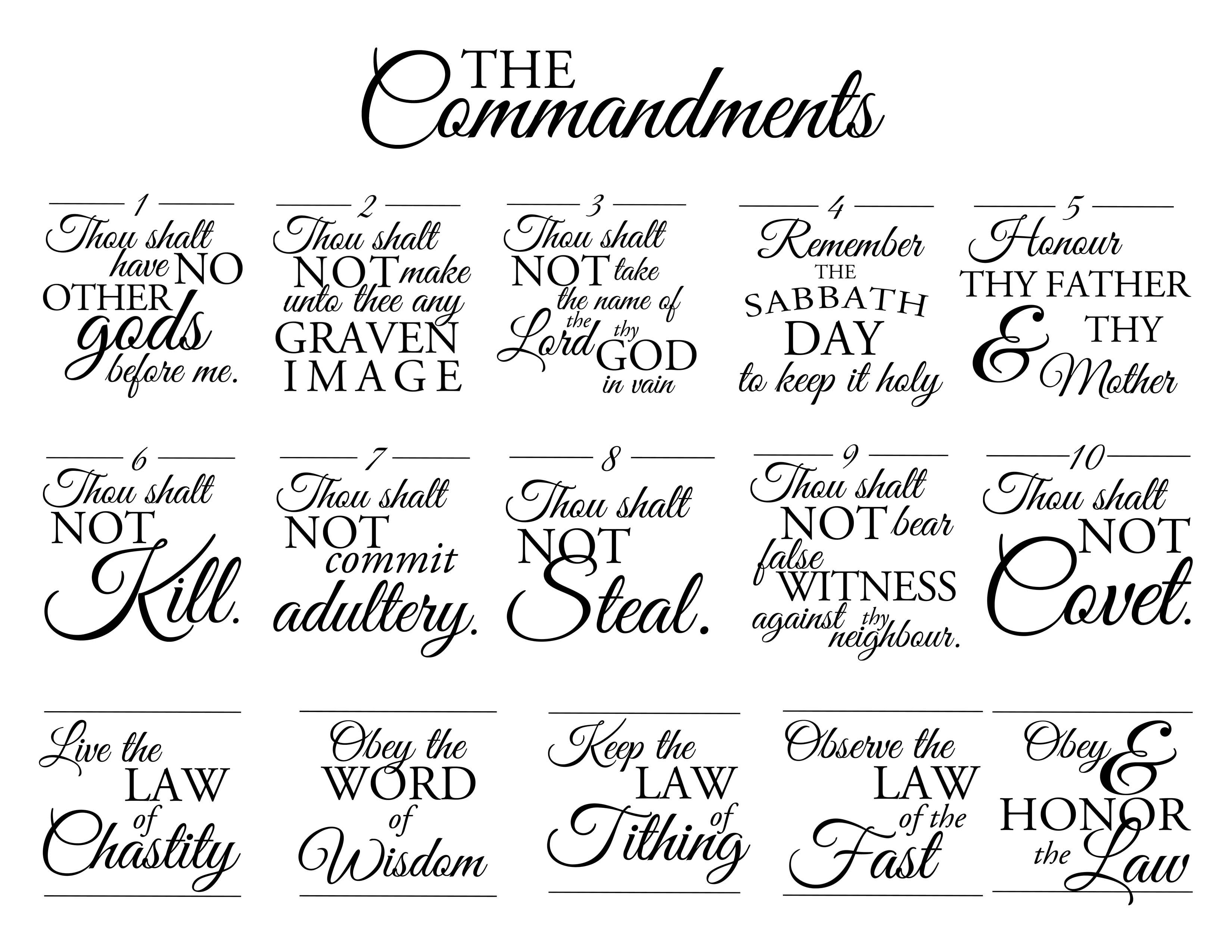 10 Commandments Lds Coloring Page Coloring Home