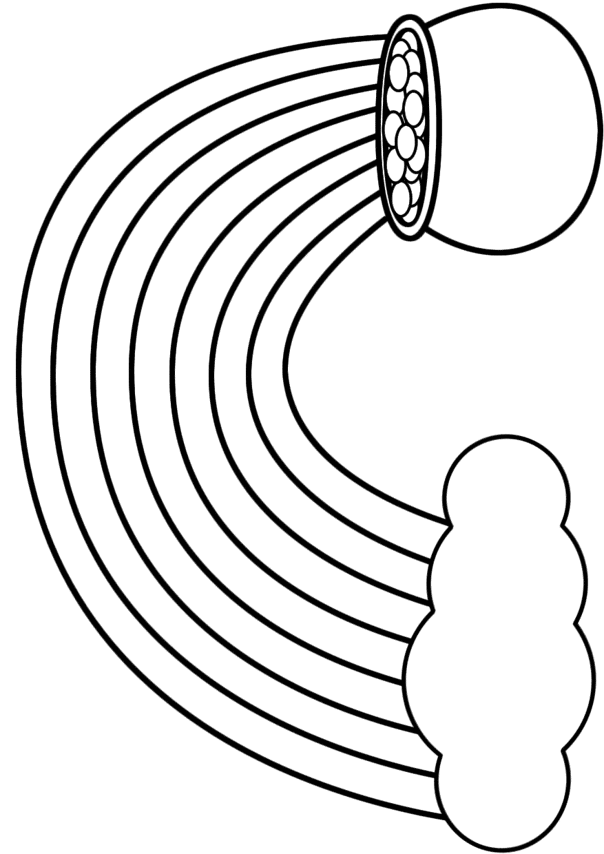 rainbow-with-clouds-coloring-page | Coloring Page Book | 1240x877