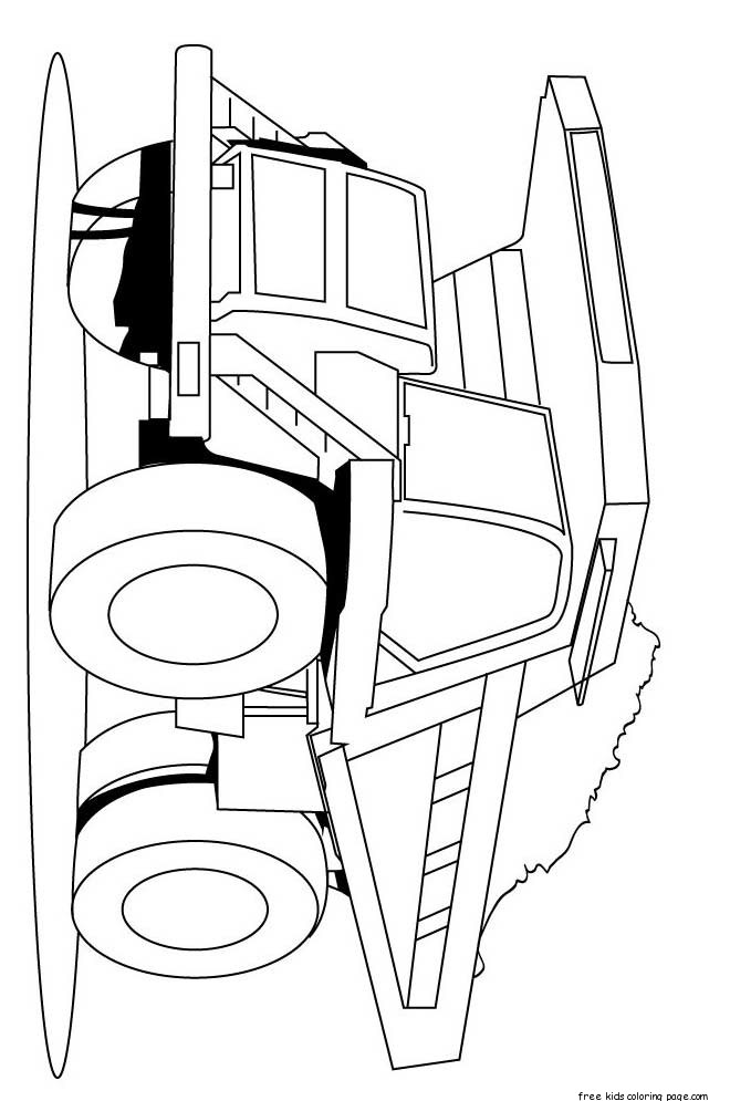 Semi Truck Coloring Pages Printable. Drawing Semi Colouring Pages ...