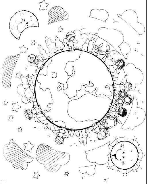 Children Around The World Coloring Pages Page 1