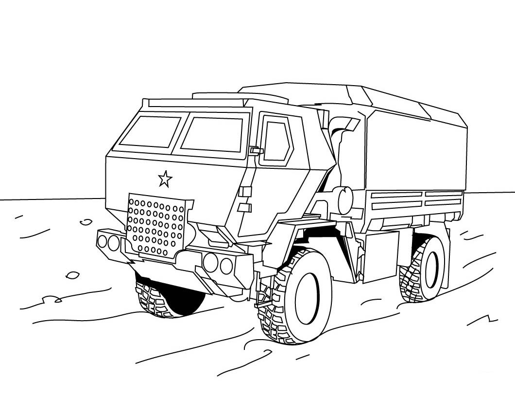 eighteen wheeler coloring pages - photo#11