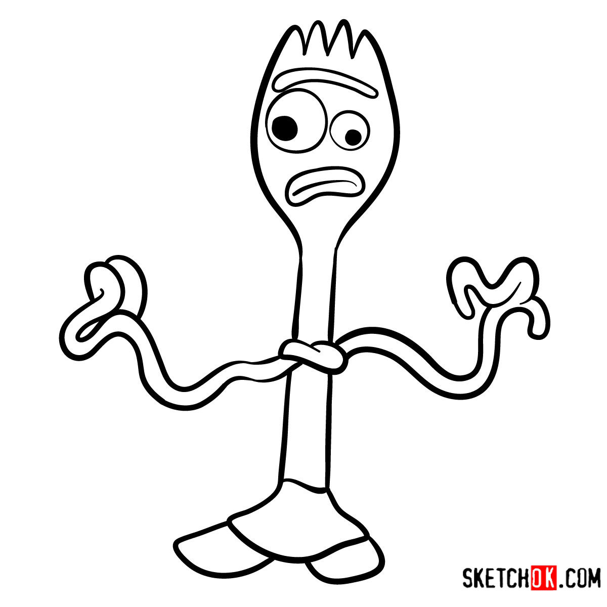 Forky Coloring Pages   Coloring Home