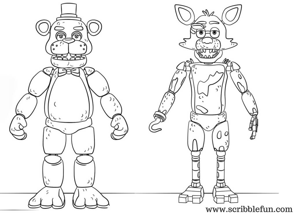 It is an image of Fnaf Coloring Pages Printable in printing