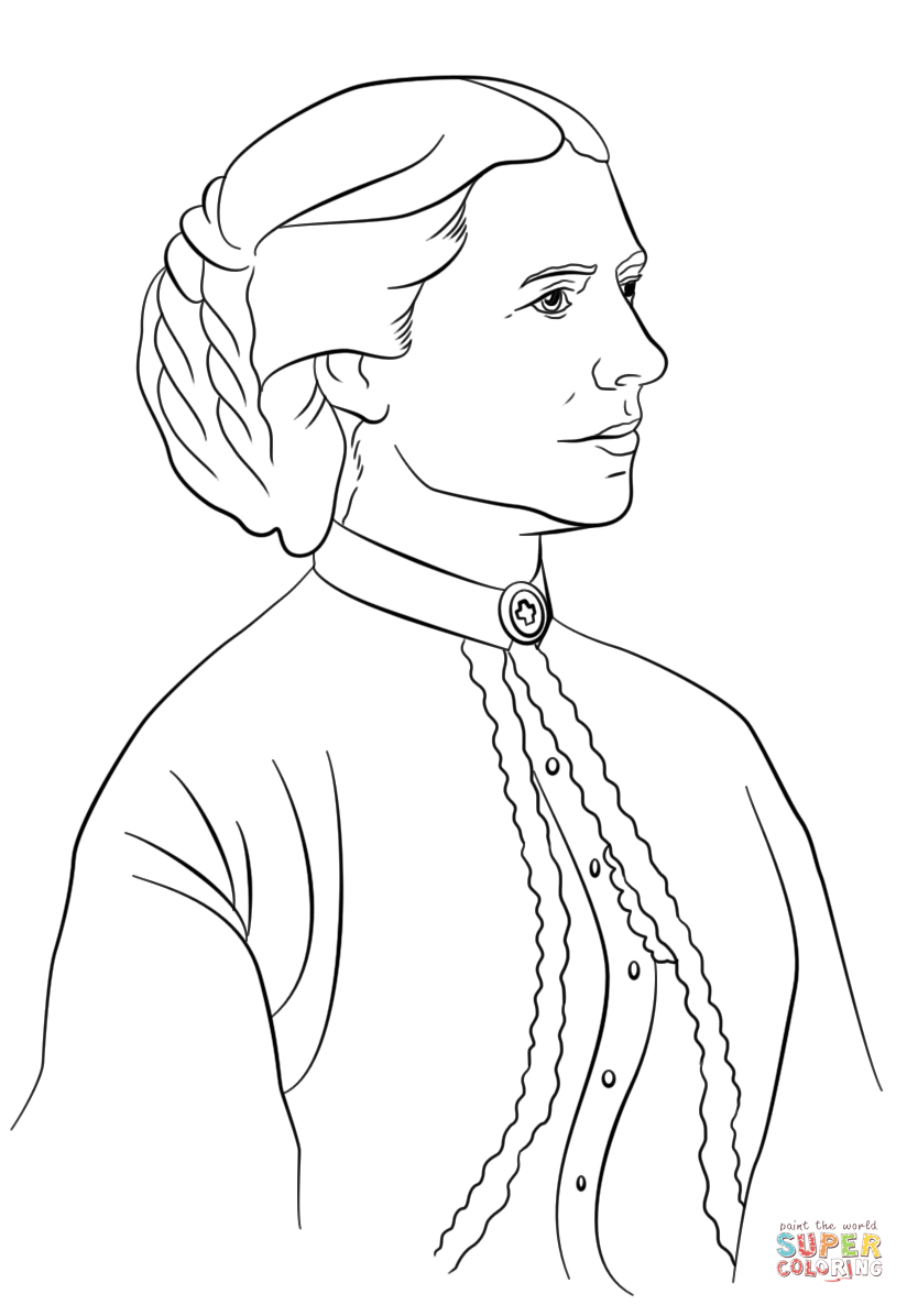 Clara Barton Coloring Page Free Printable Coloring Pages