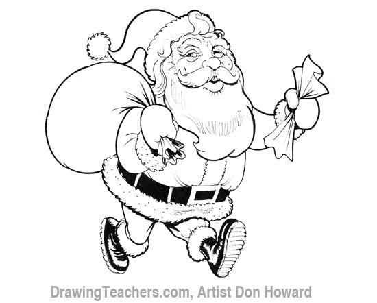 How To Draw Santa Claus Face Pictures 1 Inside Santa Claus
