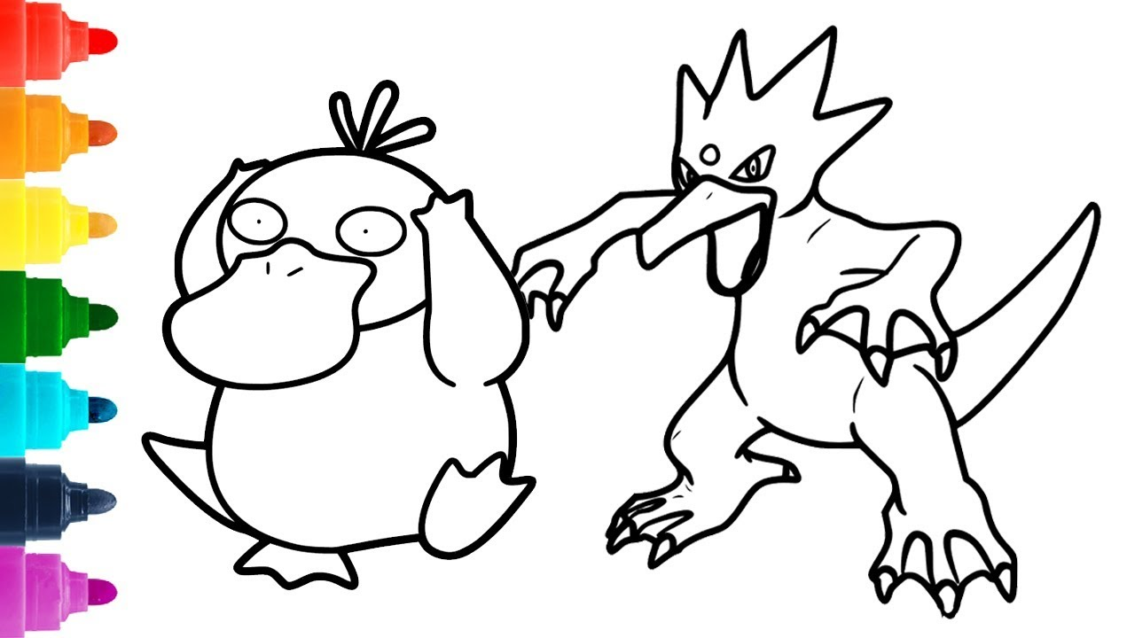 Psyduck Coloring Pages - Coloring Home